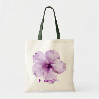 Lavender Hibiscus Flower Girl Tote Bag Budget Tote Bag