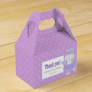 Lavender Hippo Ballerina Polkadots Party favour Favour Box