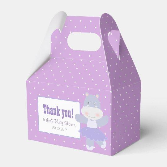 Lavender Hippo Ballerina Polkadots Party favour Favour Box