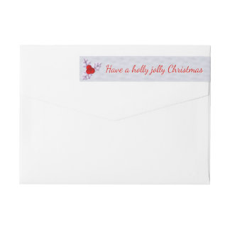 Lavender Holly Leaves Snow Wrap Around Label