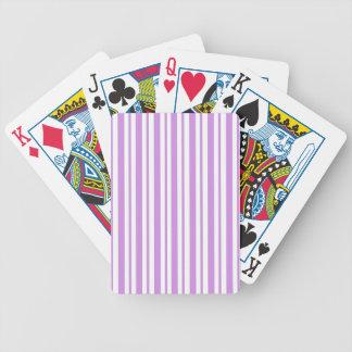 Lavender Horizontal Pinstripe Bicycle Playing Cards