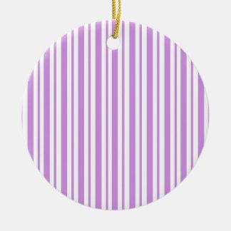 Lavender Horizontal Pinstripe Christmas Ornament
