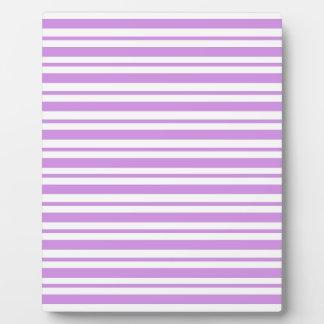 Lavender Horizontal Pinstripe Plaque