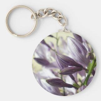 Lavender Hosta blooms Basic Round Button Key Ring