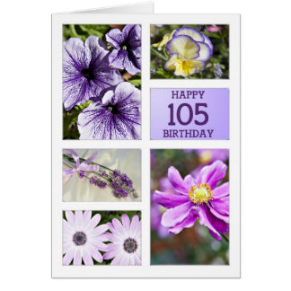Lavender hues floral birthday card
