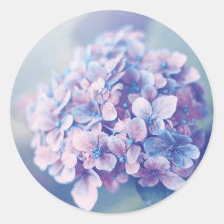 Lavender Hydrangea Classic Round Sticker