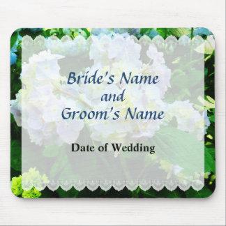 Lavender Hydrangea in Garden Wedding Favor Mousepad