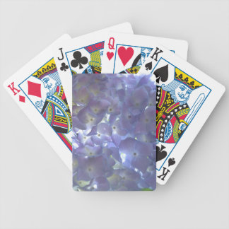 Lavender Hydrangeas Bicycle Playing Cards