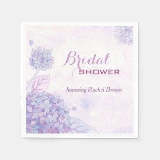 Lavender Hydrangeas Bridal Shower Paper Napkins