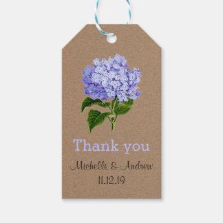 Lavender Hydrangeas Floral Thank You Wedding Gift Tags