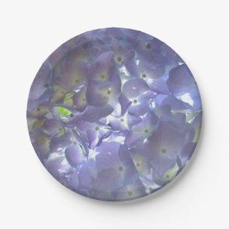 Lavender Hydrangeas Paper Plate