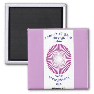 lavender inspirational bible verse, square magnet