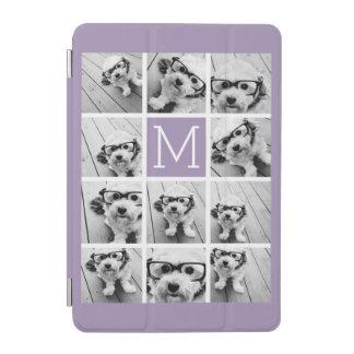 Lavender Instagram Photo Collage Custom Monogram iPad Mini Cover