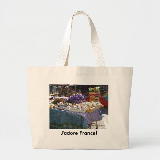 Lavender, J'adore France! Large Tote Bag