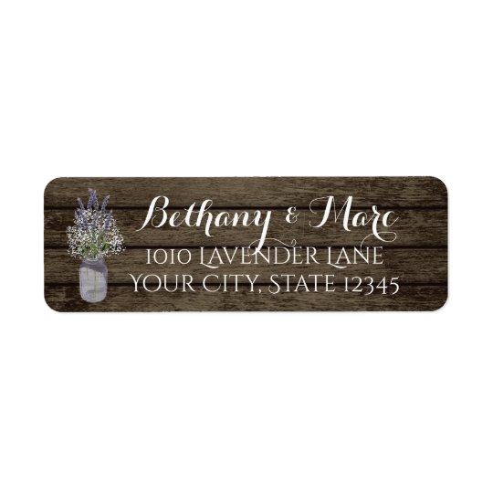 Lavender Jar and Barn Wood Address