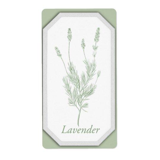 Lavender Jar Label