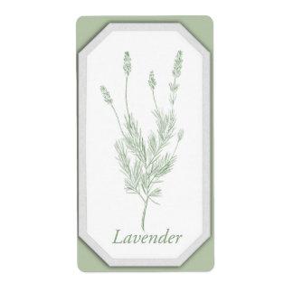 Lavender Jar Label Shipping Label