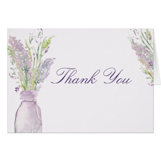 Lavender Jar Thank You Card