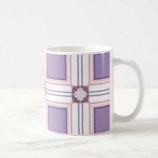 Lavender jump; Energetic Midday Basic White Mug