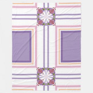 Lavender jump; Energetic Midday Fleece Blanket