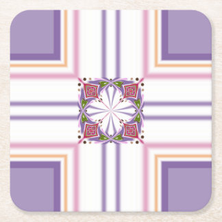 Lavender jump; Energetic Midday Square Paper Coaster