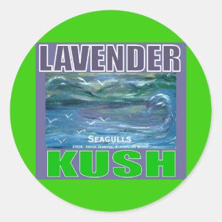 LAVENDER KUSH CLASSIC ROUND STICKER