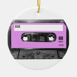 Lavender Label Cassette Round Ceramic Decoration