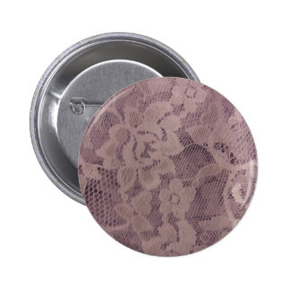 Lavender Lace 6 Cm Round Badge
