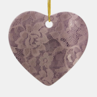 Lavender Lace Christmas Ornament