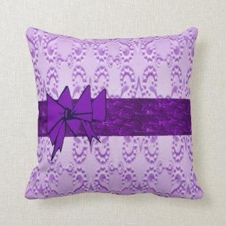 Lavender Lace Cushion