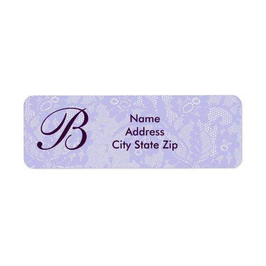 Lavender lace monogram