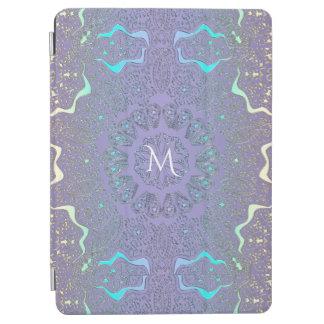 Lavender Lace Pastel Monogram Mandala iPad Pro Cover
