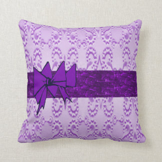 Lavender Lace Throw Pillow