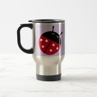 Lavender Lady Bug Travel Mug