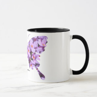 Lavender Lantana Flowers on a Coffee Mug