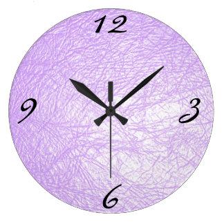 lavender leather texture large clock