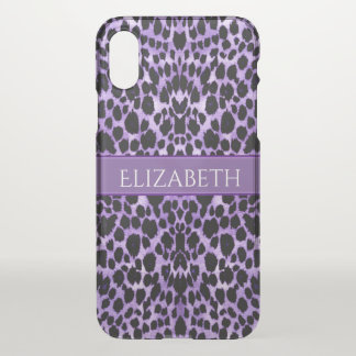 Lavender Leopard Animal Print iPhone X Case