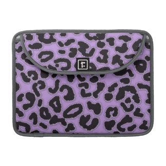 Lavender Leopard Animal Print MacBook Pro Sleeves