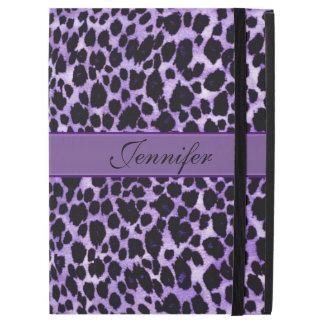 Lavender Leopard Personalized Animal iPad Pro Case