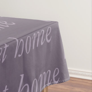 Lavender Lilac Home Sweet Home Typography Calming Tablecloth