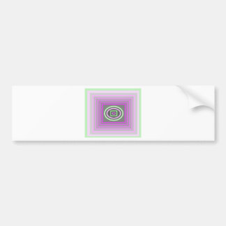 Lavender Lilac Purple and Sea Foam Green Funky Bumper Sticker