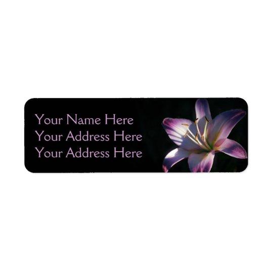 Lavender Lily Photo Return Address Label