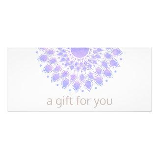 Lavender Lotus Flower Natural Spa Gift Certificate Full Color Rack Card