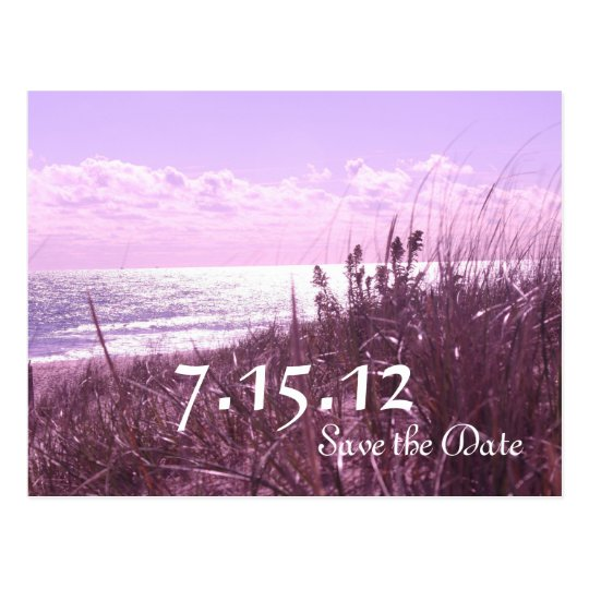 Lavender Love Save the Date Postcard