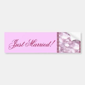 Lavender Marble Bumper Sticker