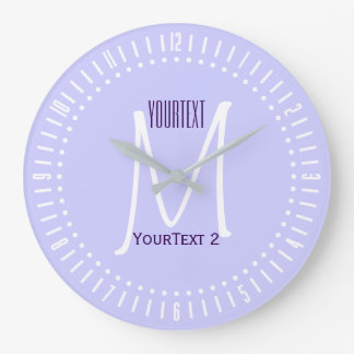 Lavender Mauve Accent Color to Personalize on Large Clock