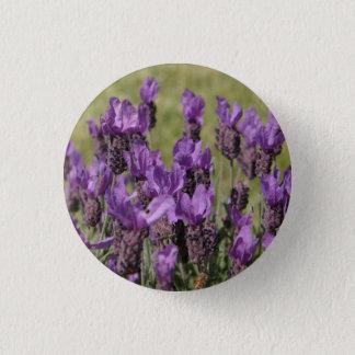 Lavender Meadow Flowers 3 Cm Round Badge