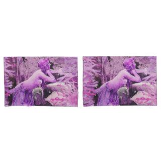 Lavender Mermaid Fantasy Pair Pillow Cases