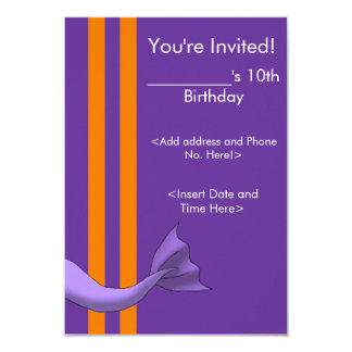 Lavender Mermaid Tail Invitiation 1 9 Cm X 13 Cm Invitation Card