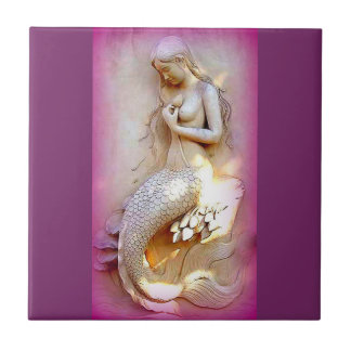 lavender mermaid tile